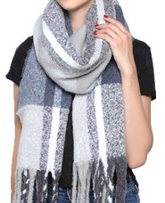 Fashion Scarf - Pastel Blue/Grey Mix