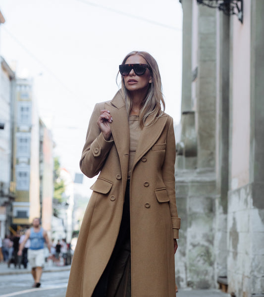 Classic Fitted Coat - Camel