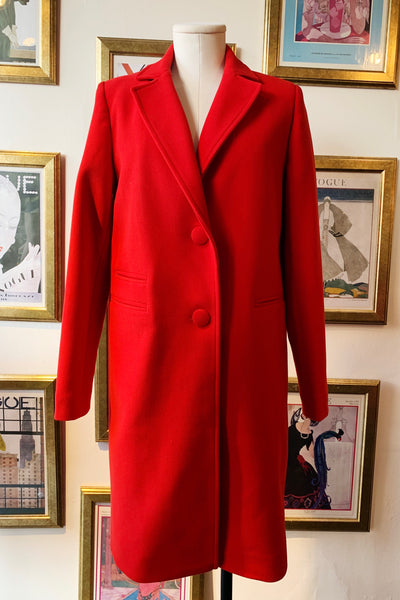 Mid-Length Coat - Red