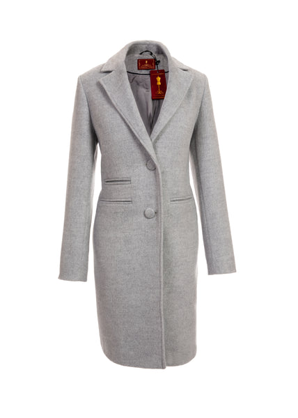 Mid-Length Coat - Grey