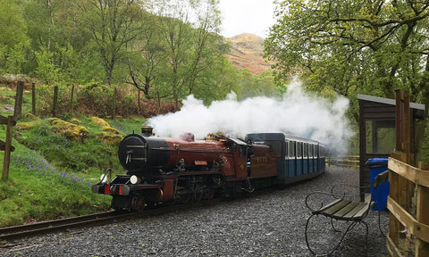 The Ravenglass railway stream train