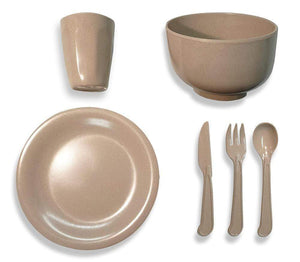 Single Person Eco Friendly Camping Dinner Set Made From Rice Husk Bowls, Plates & Cups OLPRO