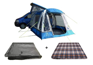 LOOPO BREEZE BLUE INFLATABLE CAMPERVAN AWNING PACKAGE Camper van Awning Blue & Grey