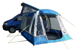 Loopo Breeze Inflatable Campervan Awning Camper van Awning Blue & Grey