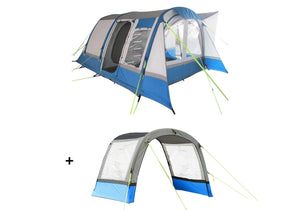 Cocoon Breeze Campervan Awning - Blue and Grey Extension Package Camper van Awning Camper Van Awning Bundle