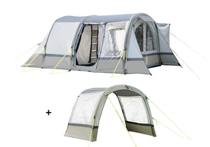 Cocoon Breeze Campervan Awning - Sage Green & Chalk Extension Package Camper van Awning Camper Van Awning Bundle