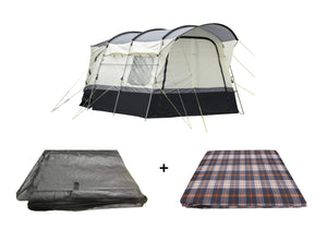 The Loopo Campervan Awning Package, Awning, Carpet, Footprint Groundsheet Camper Van Awning Camper Van Awning Bundle