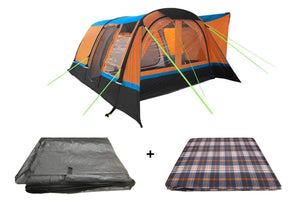 Cocoon Breeze Inflatable Campervan Awning Package Camper van Awning Orange & Black