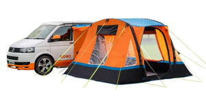 Auvent camping-car gonflable Cubo Breeze auvent orange et noir