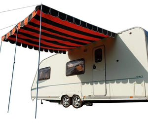 Caravan Sun Canopy Shade Orange and Brown canopy Orange & Brown