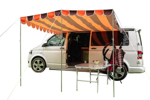 Toile de camping-car Canopy canopy Orange & Brown