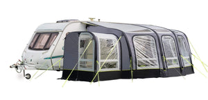 View 420 Caravan Inflatable Porch Awning With Porch Extension Caravan Awning Grey & Black