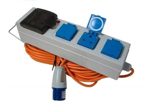 Camping Site Mains Supply Unit - 3 Outlet Electricity & Towing OLPRO