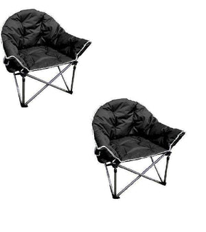 2 x The Comfort Folding Camping Chairs Furniture OLPRO