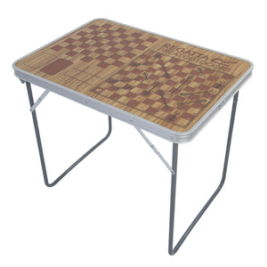 Classic Games Folding Camping Table Brown Furniture OLPRO