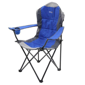 Regatta Kruza Padded Folding Camping Chair With Storage Bag Nautical Blue Furniture Regatta