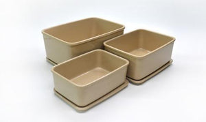 HUSK 3 IN 1 RECTANGULAR STORAGE CONTAINERS Housewares Environmentally Friendly Tableware