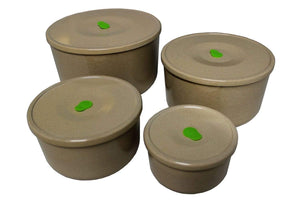 HUSK 4 IN 1 ROUND STORAGE CONTAINERS Housewares Environmentally Friendly Tableware