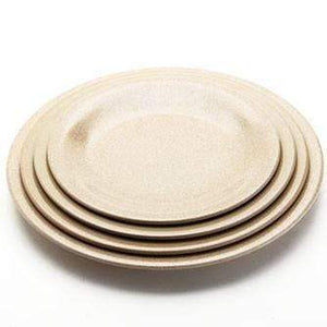 HUSK ROUND PLATE (LARGE) Pack of 4 Housewares Environmentally Friendly Tableware