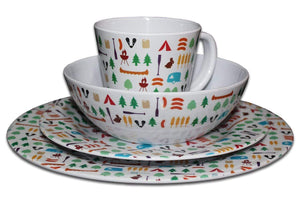 24 Piece Berrow Hill Melamine Set Melamine Camping Tableware Sets
