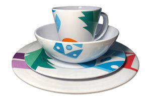 24 Piece Spring Bay Melamine Set Melamine Camping Tableware Sets