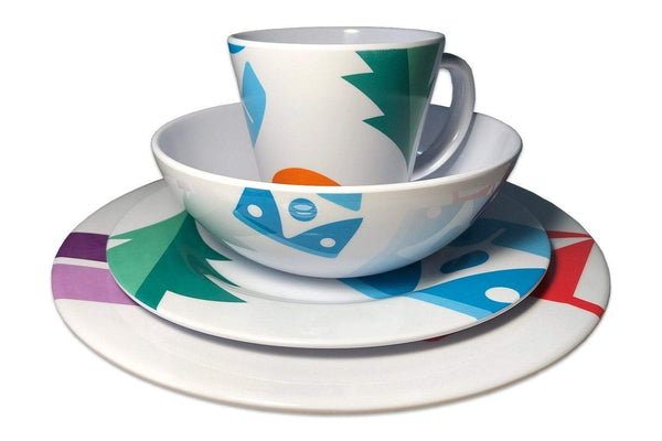 6 Person Melamine Tableware Sets