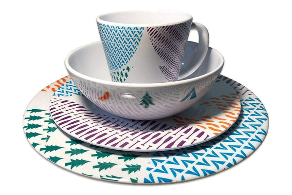 2 Person Melamine Tableware Sets