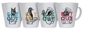 Eat Out Melamine Mugs (Pack Of 4) Melamine Camping Tableware Sets
