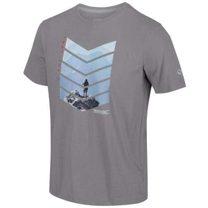 T-Shirt Graphique Homme Breezed - Rock Grey OLPRO