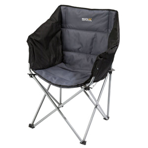 Regatta Navas Lightweight Folding Camping Chair With Storage Bag - Black Seal Grey OLPRO
