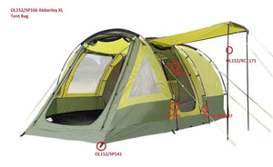 Spare Parts For Abberley XL 4 Berth Tent OLPRO