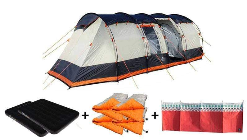 OLPRO Wichenford 8 Berth  Family Tent Camping Package
