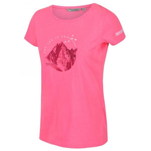 Women's Breezed Graphic T-Shirt - Neon Pink OLPRO