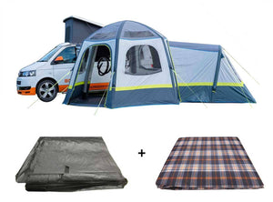 PRE-ORDER The Hive Breeze Campervan Awning Package - Awning, Footprint & Carpet - New for 2021 Pre Order Now