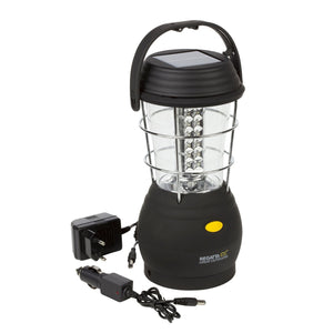 Helia 36 LED Solar Lantern Camping Lamp Black Regatta