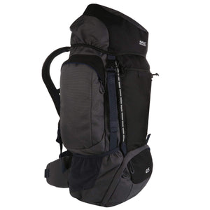 Highton 65L Rucksack Black Ebony Regatta