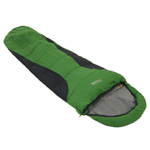 Hilo 250 Lined Ripstop Mummy Sleeping Bag Extreme Green Regatta