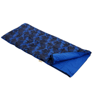 Maui Kids Polyester Lined Sleeping Bag - Oxford Blue Palm Tree Print Regatta