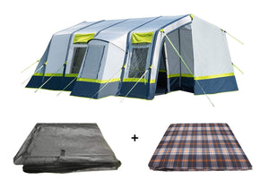 OLPRO HOME 5 BERTH FAMILY TENT PACKAGE Tents Green & Grey