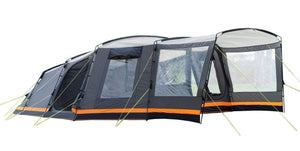 Endeavour 7 Man Family Tent Tents Grey, Black & Orange