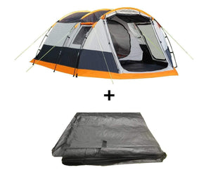 The Knightwick 2.0S 3 Berth Tent Package Tent , Footprint Tents Grey, Black & Orange