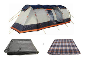 The Wichenford 3.0 8 Berth Tent Package Tent , Carpet ,Footprint - Pre Order Tents Grey, Black & Orange