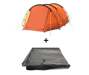 The Abberley 2 Berth Tent Package Tent , Footprint Tents Orange