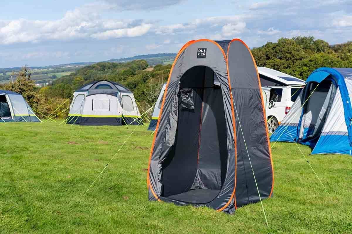 OLPRO Grey Pop Up Toilet & Utility Tent 1.2M