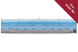 PRE-ORDER The Beach 5 Pole Windbreak (Wooden Poles) - Back in stock March Windbreaks Camping & Beach Windbreak
