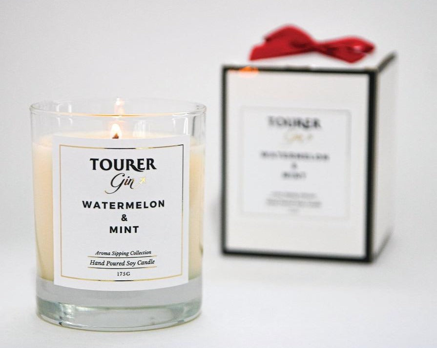 Tourer Watermelon & Mint - Gin and Candle Mini Gift Set
