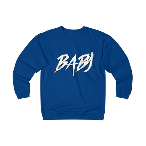 Unisex Heavyweight Baby Print Fleece Crew