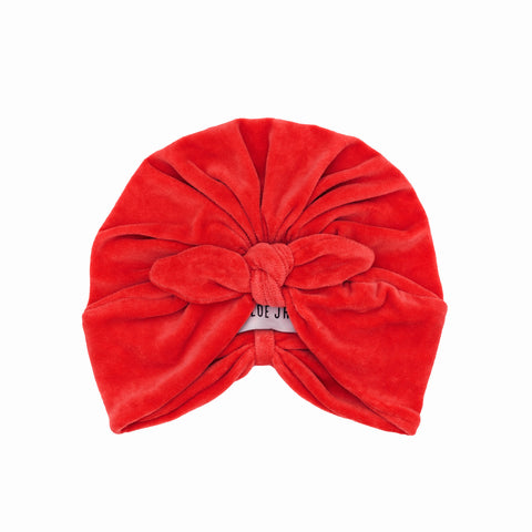 ESTRID Knotted Turban Red