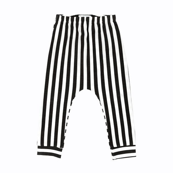 SIGGE Baggy Pants Black/White