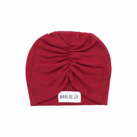 SIGNE Wool Frilly Beanie Red